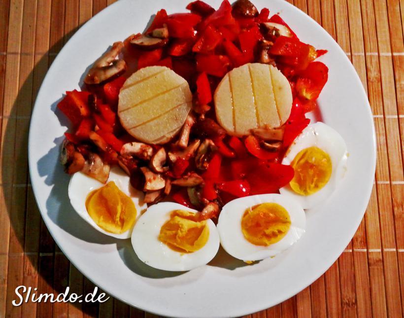 rezept ohne fett eier gemüse